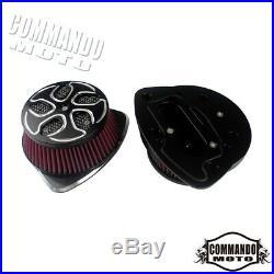 1 Pair Aluminum Motorcycle Air Cleaner Intake Filter For Suzuki Boulevard M109R