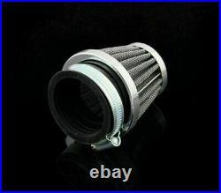 10x 50mm Universal Motorcycle Air Filter Pod Fits Honda Suzuki Kawasaki Yamaha