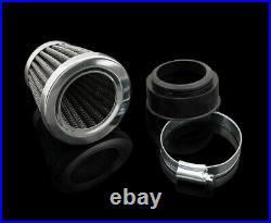 10x 50mm Universal Motorcycle Air Filter Pod For Honda Suzuki Kawasaki Yamaha UK