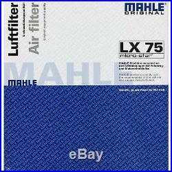 10x MAHLE / KNECHT Luftfilter LX 75 Air Filter