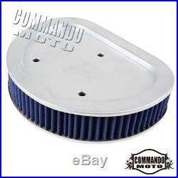 1x Motorcycle Blue Air Filter Cleaner Element For Harley Davidson FLHR Road King