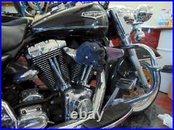 3D Black Skull Snake Air Cleaner Intake Filter For Harley Motorcycle Scull