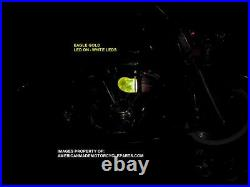 3D EAGLE YELLOW LED Air Cleaner Intake Filter Harley Motorcycle Elbow Point Cone