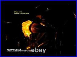3D GOLD LED Skull Snake Air Cleaner Intake Filter For Harley Motorcycle Scull