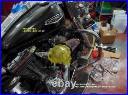3D GREEN LED Skull Snake Air Cleaner Intake Filter For Harley Motorcycle Scull