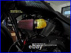 3D INDIAN Motorcycle Air Cleaner Intake Filter Indian Chief 2014-up LED Point
