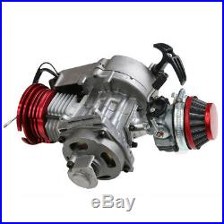 47CC 49CC 2-STROKE ENGINE MOTOR With AIR FILTER CARB POCKET MINI DIRT BIKE RED