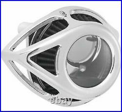 Arlen Ness Clear Tear Sucker Air Cleaner Kits Chrome 18-989