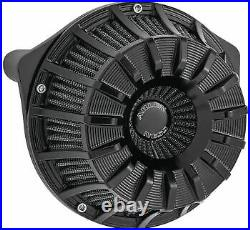 Arlen Ness Inverted Series Air Cleaner Kits 15-Spoke Black 18-997
