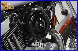 Black Wyatt Gatling Air Cleaner Assembly, for Harley Davidson motorcycles, by V
