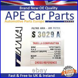 Bmw 5 7 8 X5 Z8 Alpina B10 B3 B8 3.2 4.6 Sofima Air Filter Insert Panel S3029a