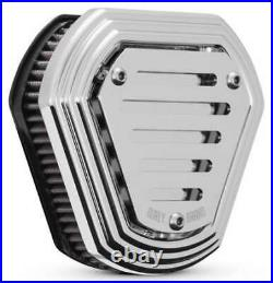 Burly Brand Hex Air Filter Air Cleaner Kit Chrome B09-0011C