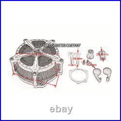 CNC Motorcycle Air Cleaner Intake Filter Harley Sportster XL 883 1200 1996-2015