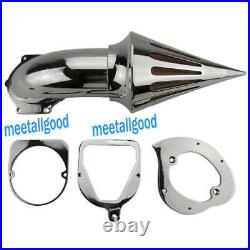 Chrome Spike Air Cleaner Intake Filter Set Fit Honda Shadow ACE VT750 Motorcycle