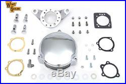 Chrome Wyatt Gatling Air Cleaner Assembly, for Harley Davidson motorcycles, by