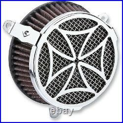 Cobra 606-0101-02 Cross Air Cleaner Kit, Chrome Harley-Davidson Road King EF