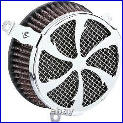 Cobra 606-0104-01 Air Cleaner Kit, Swept Chrome Harley-Davidson Softail De