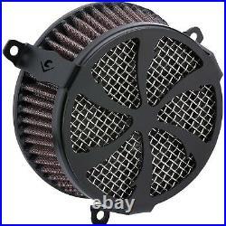 Cobra 606-0104-01B Air Cleaner Kit, Swept Black Harley-Davidson Softail Lo