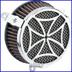 Cobra 606-0104-02 Air Cleaner Kit, Cross Chrome Harley-Davidson Softail De