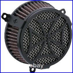 Cobra 606-0104-02B Air Cleaner Kit, Cross Black Harley-Davidson Softail Lo