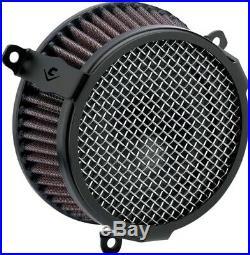 Cobra Motorcycle Air Cleaner Kit 17-19 FLHT/FLHR/FLHX/FLTRX/FLTRU Plain Black