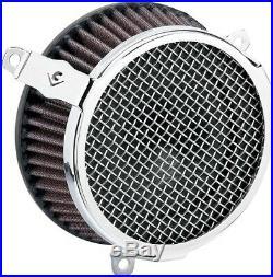 Cobra Motorcycle Air Cleaner Kit 17-19 FLHT/FLHR/FLHX/FLTRX/FLTRU Plain Chrome