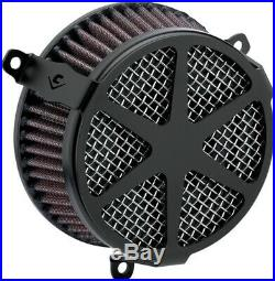 Cobra Motorcycle Air Cleaner Kit 17-19 FLHT/FLHR/FLHX/FLTRX/FLTRU Spoke Black