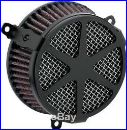 Cobra Motorcycle Air Cleaner Kit For 18-19 FXBB/FXLR/FLSL/FLDE/FLSB Spoke Black