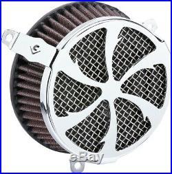 Cobra Motorcycle Air Cleaner Kit For 18-19 FXBB/FXLR/FLSL/FLDE/FLSB Swept Chrome