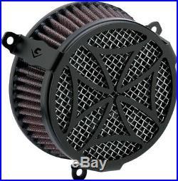 Cobra Motorcycle Air Cleaner Kit For Kawasaki VN900 06-19 Cross Black