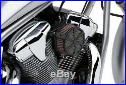 Cobra Motorcycle Air Cleaner Kit For Yamaha XV950 Bolt 13-19 Swept Black