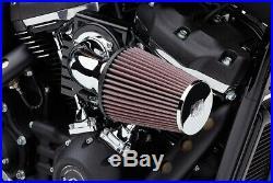 Cobra Motorcycle Cone Air Intake For 17-19 FLHT/FLHR/FLHX/FLTRX/FLTRU Chrome