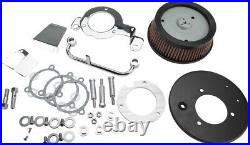Harddrive Round Hi Performance Chrome A/C And Breather Kit for M8 120428