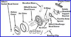 Indian Motorcycles Thunder Stroke High Flow Air Intake Black 2880654-266