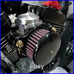 Joker Machine HP Air Cleaner Smooth Black For Harley Davidson XL EFI 10-200B