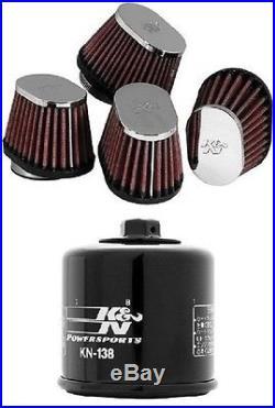K&N Motorcycle Custom Air Filter + Oil Filter 1987-1994 Suzuki GSX1100F Katana