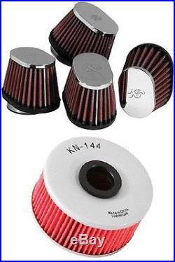 K&N Motorcycle Custom Air Filter + Oil Filter Combo RC-1824 + KN-144