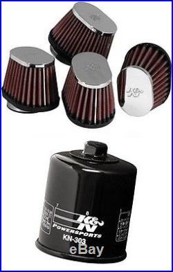 K&N Motorcycle Custom Air Filter + Oil Filter RC-1824 + KN-303