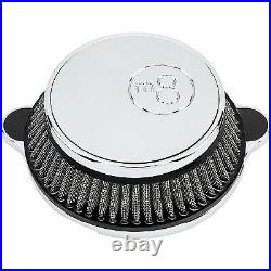 LA Choppers LA-2391-03 Air Cleaner Assembly, 8-Ball Cover Chrome Harley-Da