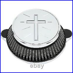 LA Choppers LA-2395-03 Air Cleaner Assembly, Standard Cross Cover Chrome H
