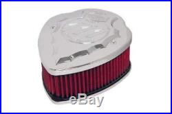 Lloydz Indian Motorcycle Facet Cut Airbox Chrome WithRed Filter
