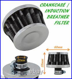 Mg Oil Mini Breather Air Filter Fuel Crankcase Engine Car Bike Carbon Chrome