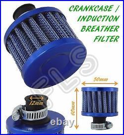 Mini Oil Mini Breather Air Filter Fuel Crankcase Engine Car Bike Blue