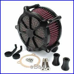 Motorcycle Air Filter Black CNC Air Cleaner Intake System for Touring Road Ki