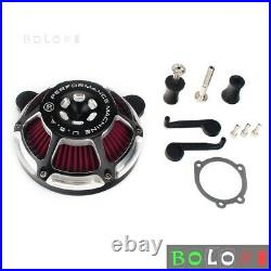 Motorcycle Air Filter CNC Air Cleaner Intake System Kit For Harley Dyna Softail