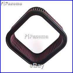 Motorcycle Air Filter Cotton Gauze Rectangular Cleaner For Harley Davidson V-ROD