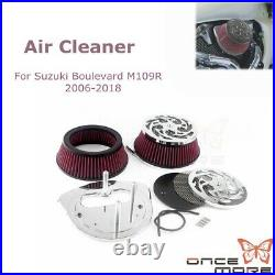 Motorcycle Big Air Cleaner Intake Filter Engine For Suzuki Boulevard M109R 06-18