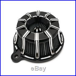 Motorcycle CNC Air Cleaner Intake Filter For Harley Softail Touring Dyna Black
