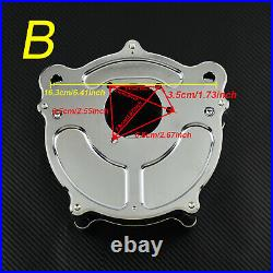 Motorcycle Chrome Air Cleaner Intake Filter Fit For Harley Touring Dyna Softail