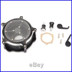 Motorcycle Chrome Turbine Air Cleaner Filter For Harley XL SPORTSTER 2007-2018